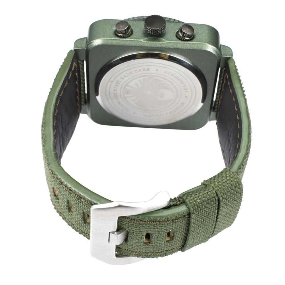 INFANTRY Męskie Zegarki Kwarcowe Nowy Wojskowy Zielony Wojskowy - Męskie zegarki - Zdjęcie 6