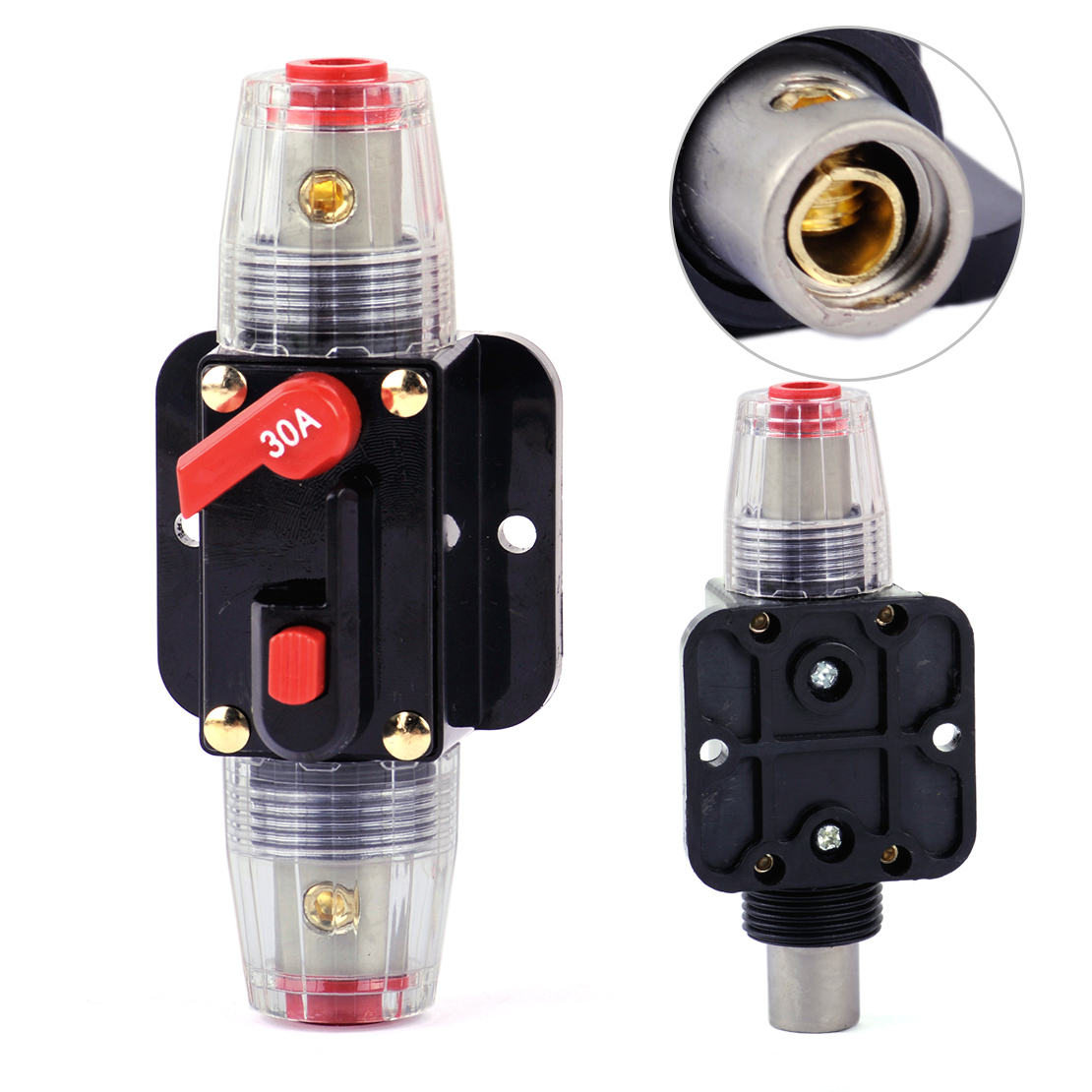 12v 250a Car Amplifier Current Circuit Breaker Inline Fuse Protector Audio Holder