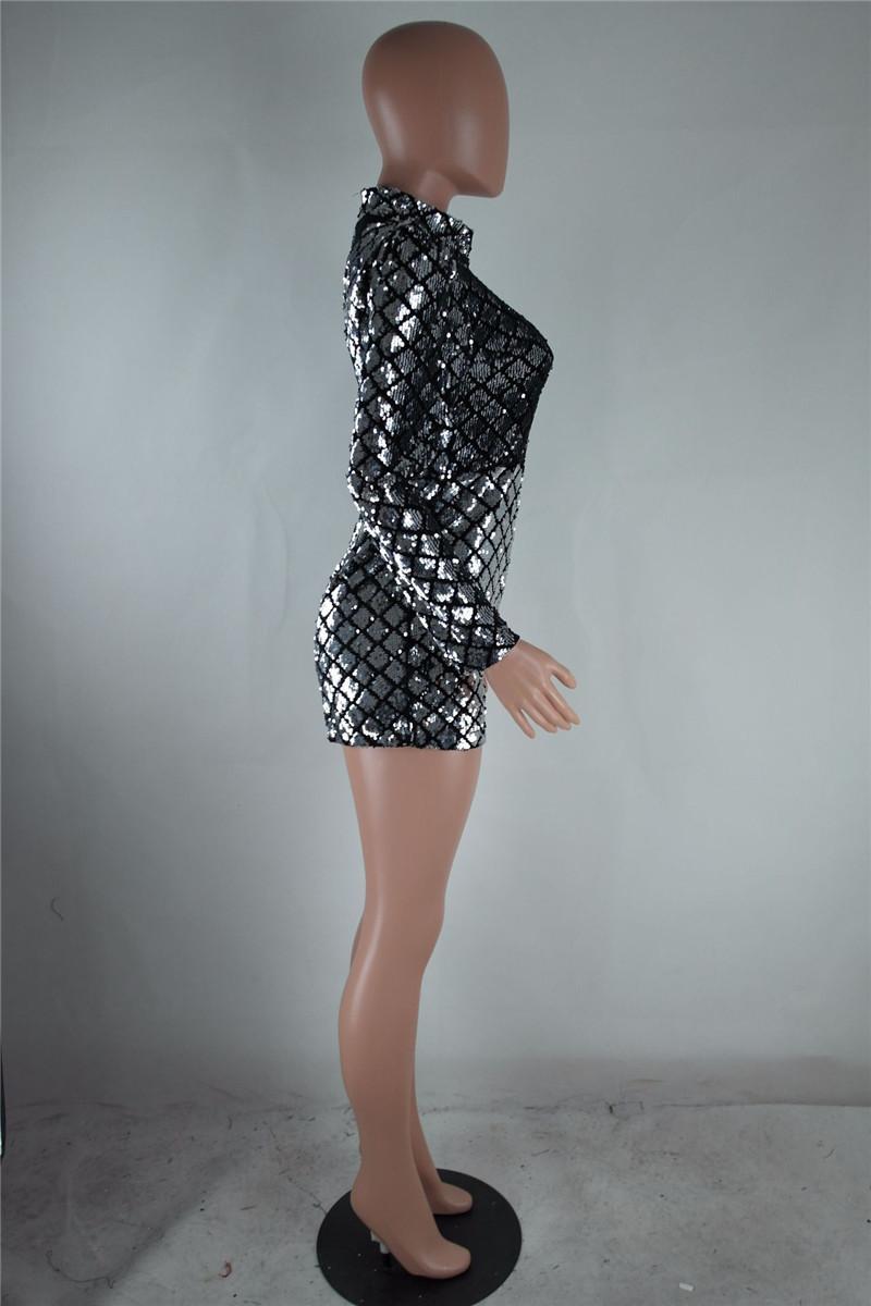 9dba028283b9 2017 Sexy Bodycon Jumpsuit for Women Romper Deep V-Neck Rhinestone Bodysuit  Female Skinny Mesh Nightclub Party Sparkly OverallsUSD 21.49 piece