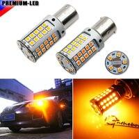 No Hyper Flash 21W Amber 1156 BA15s P21W 7507 LED Bulbs For Car Honda Hyundai Mazda