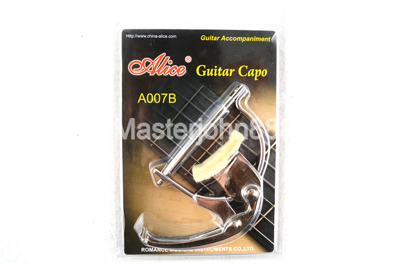 Alice A007B Chrome Metal Wool Pad Classical Guitar Capo Key Clamp Change hot 8x meideal capo10 acoustic electric guitar quick change trigger capo clamp black