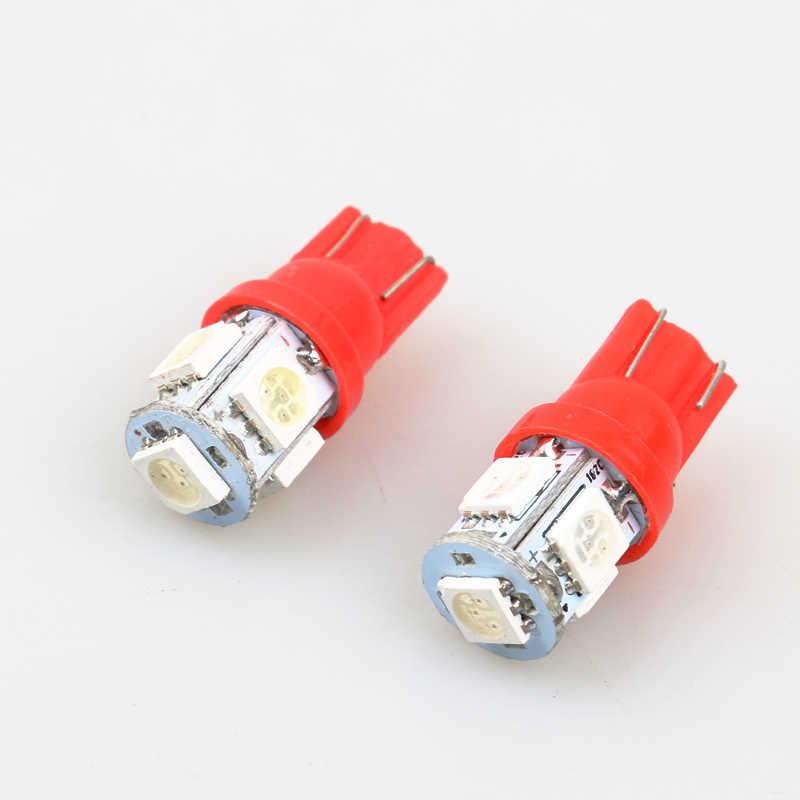 Стайлинга автомобилей 1 шт. Авто T10 5 светодиодный 1 Вт 5050 W5W Клин дверь парковочная лампа света автомобиля 5W5 светодиодный купол с фестонами C5W C10W фонарь освещения номерного знака