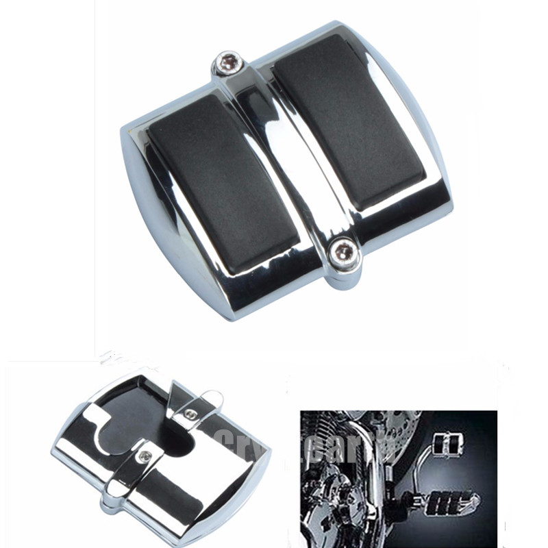 Motorcycle Chrome Brake Pedal Pad Cover For SUZUKI Boulevard C50 Honda Shadow ACE Aero Spirit VT VF 600 750 1100 Kawasaki VN 750 bikingboy front brake disc rotor for honda vf 250 v twin magna nt hawk gt 650 ntv revere 650 vf shadow 750 ace aero 1100 88 2007