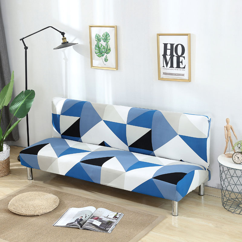 Image 3 - Armless Sofa Cover Stretch Diamond Printing Sofa Bed Cover Sofa Spandex Sofa Covers Without Armrests Elastic couch cover 1PC-in Sofa Cover from Home & Garden