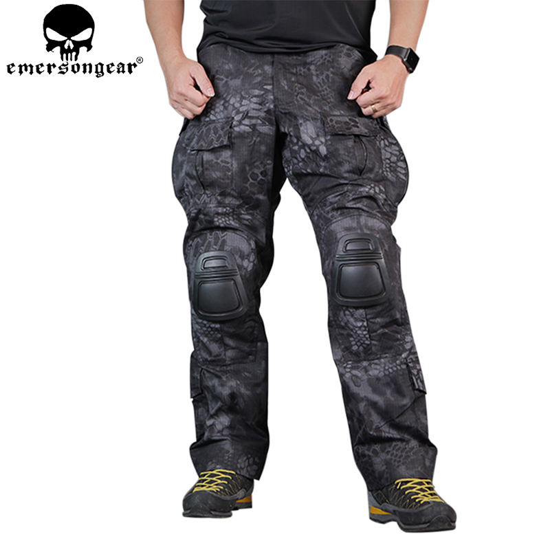 EMERSONGEAR Gen3 Combat Pants Tactical Hunting Airsoft Combat Trousers Airsoft Pants with Knee Pads TYP EM7036 emerson kryptek typhon camo g3 pants with knee pads combat tactical airsoft pants em7036