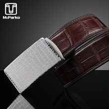 McParko Automatic Belt Men Genuine Leather Alligator Crocodile Skin Design Luxury Brand New Dress Pants Waist for Male