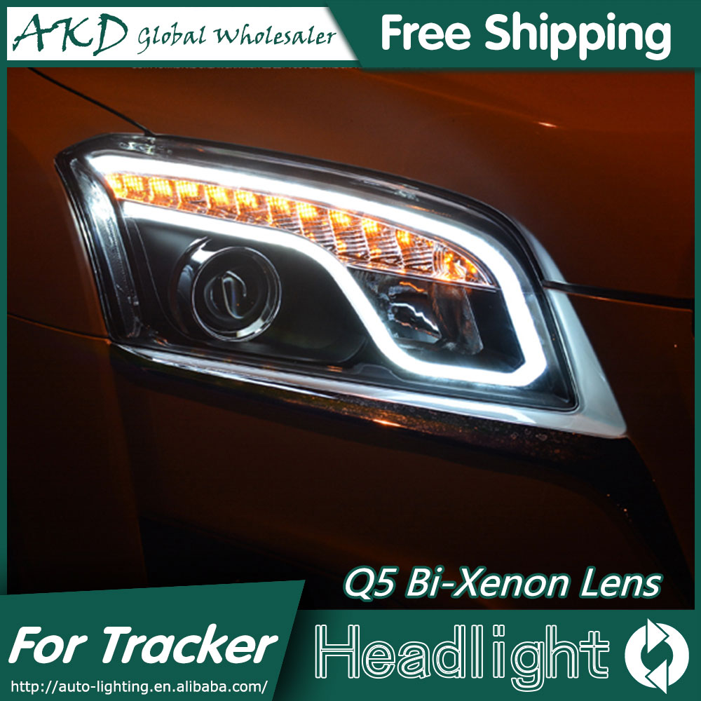 AKD Car Styling Head Lamp for Chevrolet Tracker LED Headlights 2014-2015 Trax DRL Bi Xenon Lens High Low Beam Parking Fog Lamp akd car styling for chevrolet cruze headlights 2009 2015 led headlight drl head lamp q5 bi xenon lens high low beam parking