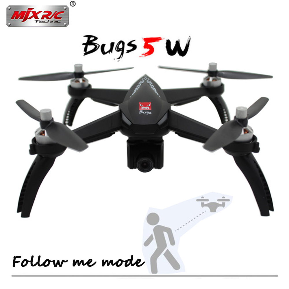 MJX Bugs 5 W B5W Brushless Motor GPS RC Drone With 5G WIFI FPV HD Camera Auto Return Follow Me RC Quadcopter VS MJX Bugs 3 PRO mjx bugs 3h b3h rc helicopter brushless motor rc drone with h9r 4k fpv camera quadcopter mjx bugs 3 upgraded version vs syma x8
