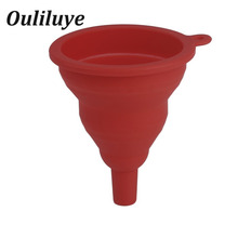 1pc Mini Silicone Funnel Strainer Hopper Foldable Collapsible Colander Anti-Spill Kitchen Gadgets Specialty Tools