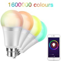 Wifi smart bulb Dimmable Led Bulb Color Changing E27 B22 RGBW led Lamps Wireless WiFi Mi Smart Home APP Remote Control