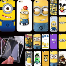 Hot Sold Funy Cartoon Cover Despicable Me Yellow Minion Case For Apple iPhone 5 iPhone 5S iPhone5S Phone Cases Shell ODN ERE QET