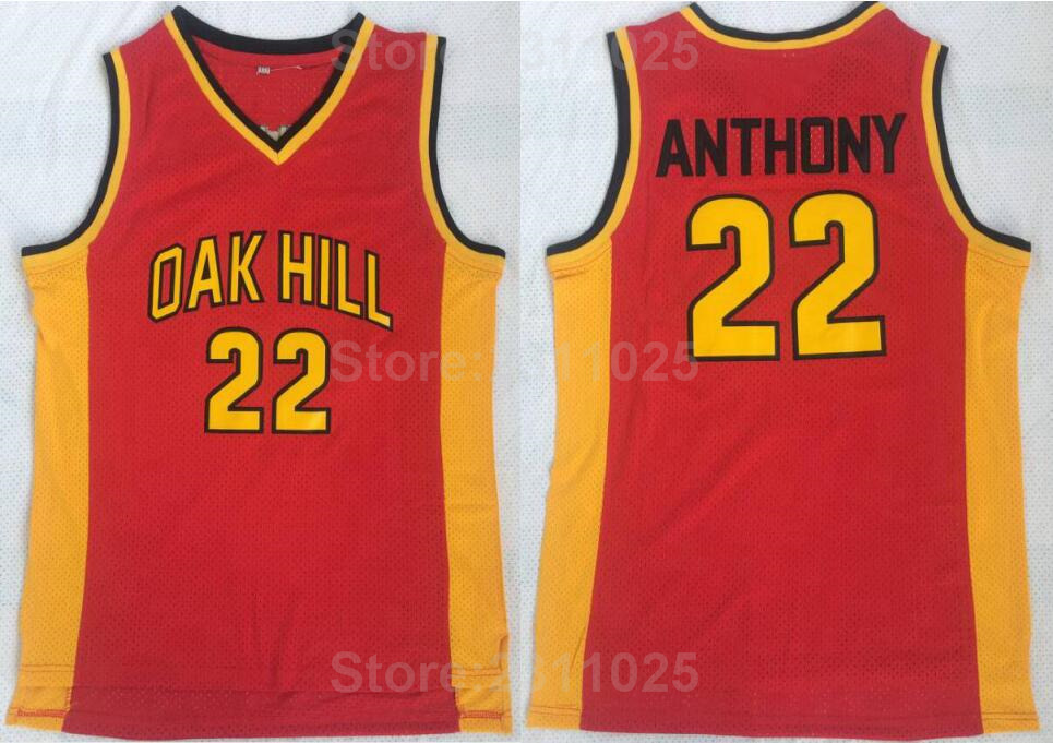 online store 7389a 1c76d Ediwallen College 22 Carmelo Anthony Basketball Jerseys Oak Hill Red Yellow  Uniforms Team Color All Stitched Free Shipping-in Basketball Jerseys from  ...