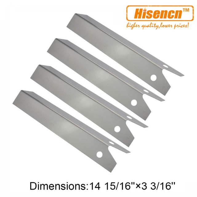 Hisencn BBQ Repair KIT Stainless Steel Burner and SS Heat Plate Replacement  For Uniflame Pinehurst GBC750W Gas Barbecue Grill