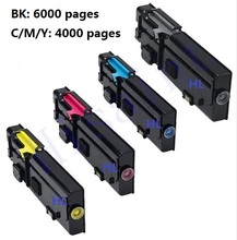 Принтер картридж Совместимый Dell C2660 C2660DN C2665DNF bk/m/c/y 4 шт./компл.