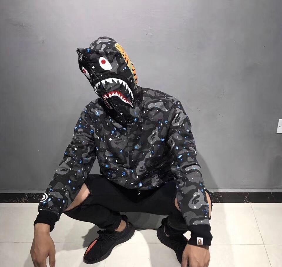 bape hoodie shark sweatshirts bape brands