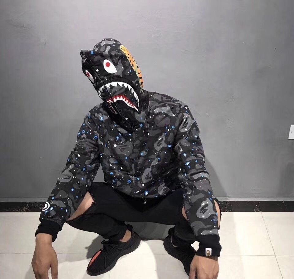 bape hoodie shark sweatshirts bape brand original bathing ape толстовка a bathing ape bape heelo kitty camo shark kitty