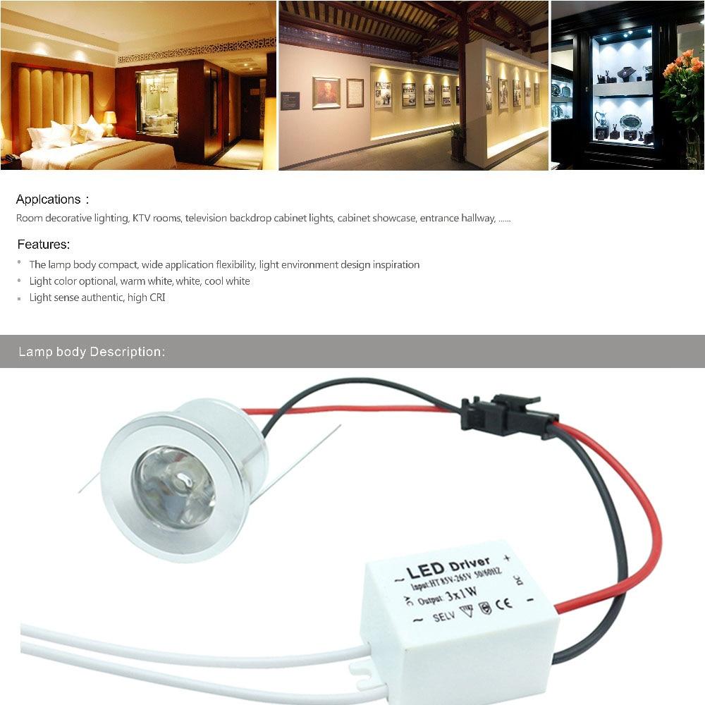 Tanbaby 10st onder kabinetspots 1W wit plafondkast licht Hoge - LED-Verlichting - Foto 6