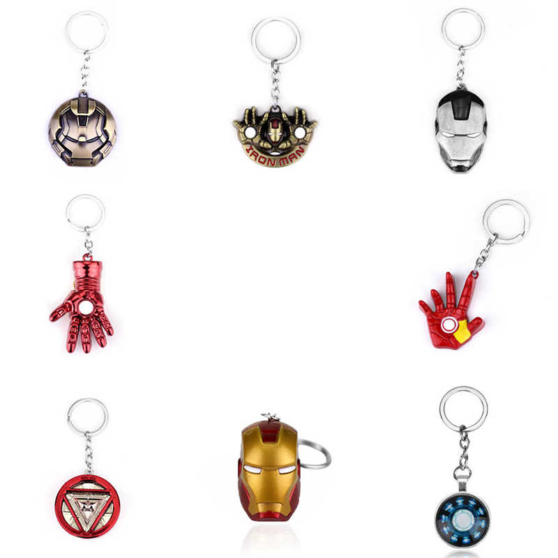 Marvel Movie Iron Man Keychain The Avengers Endgame Superhero Ironman Car Key Holder Chain Pendant Keyrings Jewelry Gift Man