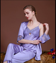 Satin Robes for Brides Wedding Robe Sleepwear Silk Pijama Casual Bathrobe Animal Rayon Long Sexy Nightgown Women Kimono SY023_13(China)