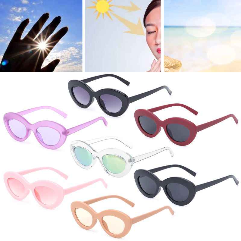 2018 Lady Girls Vintage Sunglasses Oval Retro Women Fashion Ocean Lens UV400 Brand Designer Hot New Design Casual