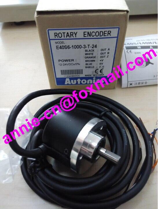 все цены на  100% New and original E40S6-1000-3-T-24,  E40S6-240-3-T-24  AUTONICS   Incremental rotary encoder  12-24VDC  онлайн