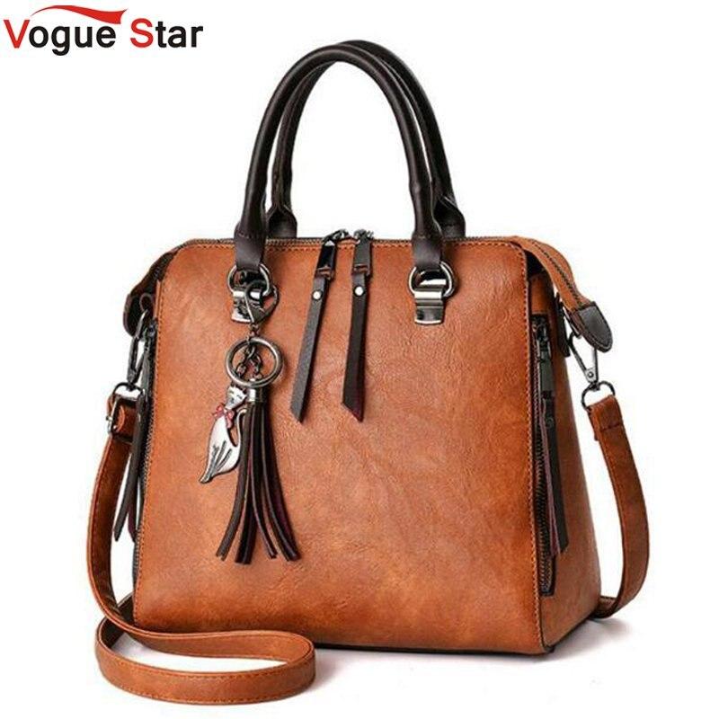 2018 Fashion Tassel Women Shoulder Bags Large Capacity Casual Leather Women Handbag Rivet Zipper Crossbody Bags for Women LB747