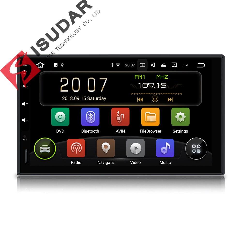 Isudar 2 Din Auto Radio Android 9 For Nissan/Xtrail/Tiida/Hyundai/KIA Universal Car Multimedia Video Player GPS USB DVR RAM 2GB