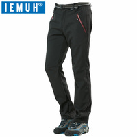 IEMUH Brand M 4XL Winter Men Warm Softshell Waterproof Pants Outdoor Sports Fleece Trousers Trekking Climbing