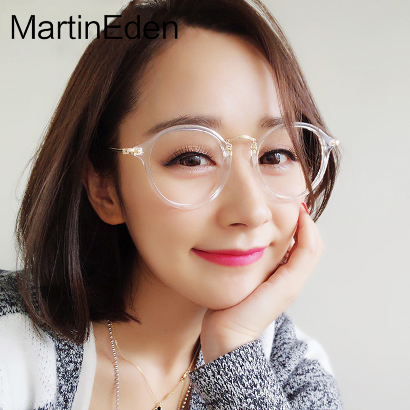 Round Transparent Glasses Frame Men Women Clear Eyeglasses