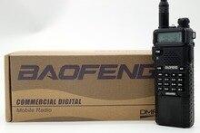 Baofeng DM-5R Plus Con 3800 mAh Batería de Larga Duración Portátil Radio DMR VHF UHF de Doble Banda 5 W 128CH Walkie Taklie transceptor