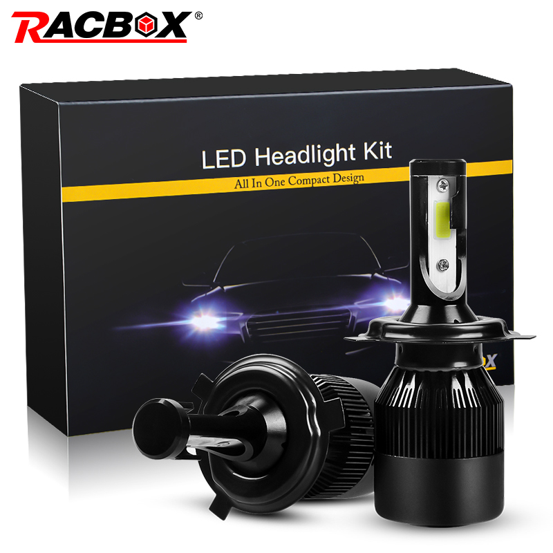 RACBOX 72w LED Car Headlight Super Bright H1 H3 H7 H4 H8/H9/H11 H13 9005 HB3 9006 HB4 9004 9007 9012 880 881 5202 Fog Bulb Lamp aicarkas 2 pcs 36w 4000lm 6000k h4 h1 h3 turbo led car headlight h7 h8 h9 h11 880 881 9005 hb3 9006 hb4 9007 led fog light bulb