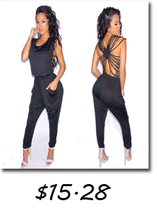 91d27379a8b3 2016 New Fashion Off Shoulder Black Women Jumpsuit Long Macacao Backless Feminino  Rompers Womens Jumpsuit Plus Size S-XL