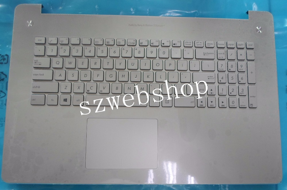 Free shipping New laptop For ASUS N750 N750J N750JV N750JK palmrest US silver keyboard Backlit with C shell touchpad