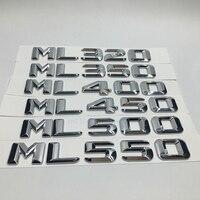 메르세데스 ml320 ml350 ml400 ml450 ml500 ml550 방전 용량을위한 자동차 스타일링 벤츠 ml 클래스 용 엠블럼 스티커