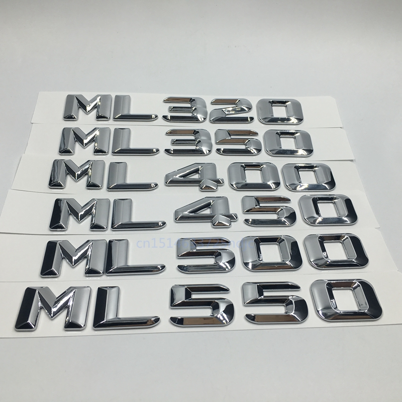 Car Styling per Mercedes ML320 ML350 ML400 ML450 ML500 ML550 Capacità di scarico Refitting Emblem Sticker per Benz ML Class