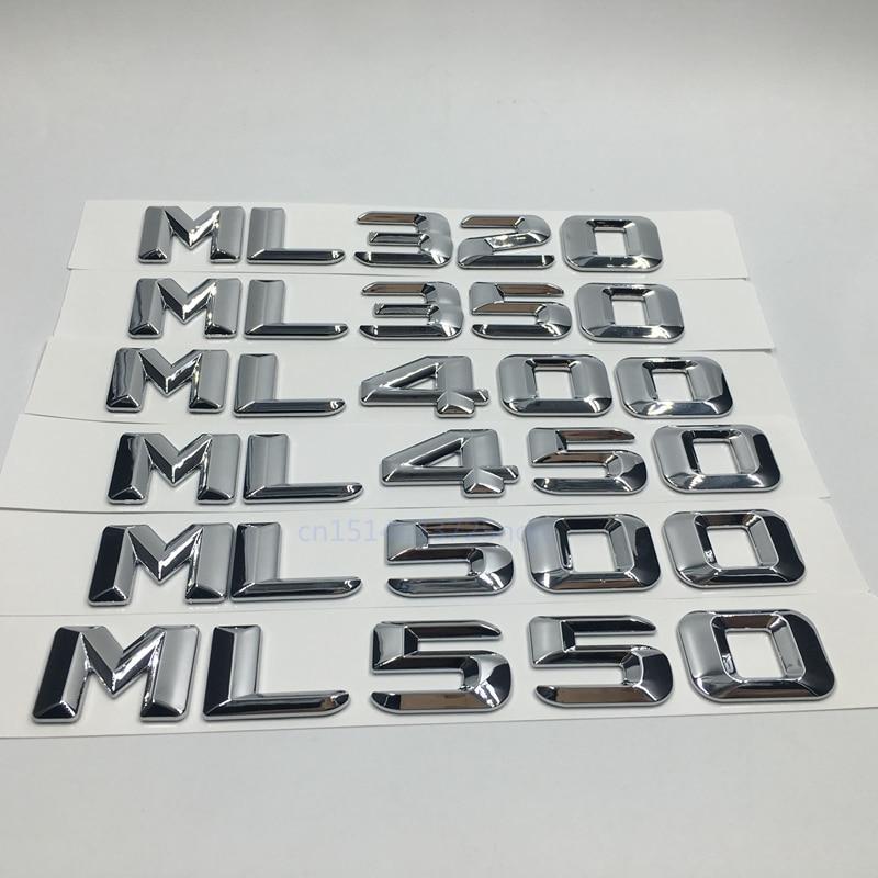Car Styling For Mercedes ML320 ML350 ML400 ML450 ML500 ML550 Discharge Capacity Refitting Emblem Sticker For Benz ML Class