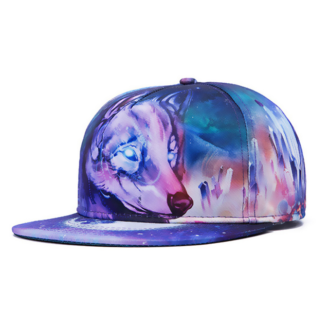 2017 New Fashion trendy hiphop floral baseball cap Ice wolf pattern bone aba reta hats for men women 013