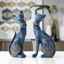 Статуэтка декоративная статуя кота из смолы для украшения дома