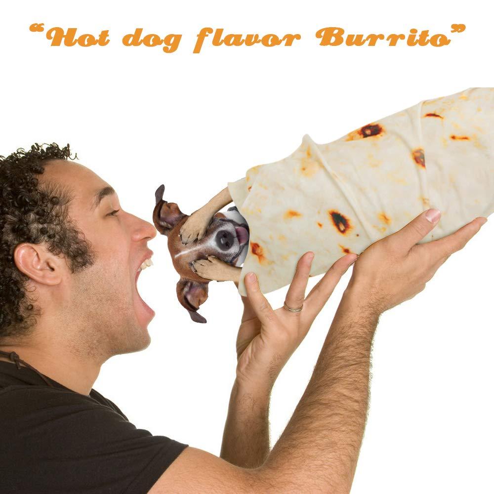3D Corn Fleece Microfine Burrito Blanket Made of Flannel Fabric For Travel Use 3