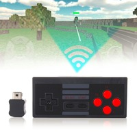 New Black For NES Retro Wireless Handle With Receiver For SFC Version For PS3 And PS4