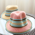 [DRESSUUP]Hats for Women Straw Beach Hat Color Stripes Sunscreen Summer Beach Cap sombreros mujer verano chapeu feminino