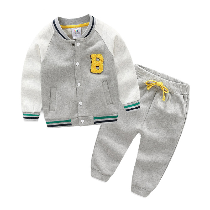 Spring autumn winter sports suit baby boy girls Clothes Long Sleeve baseball+Pants 2Pcs Suits children Clothing Outfit