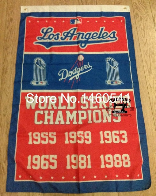 Los Angeles Dodgers World Series Champions Flag 3ft X 5ft Polyester