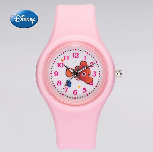 Disney Brand Child Girls Cartoon Finding Nemo Silicone Quartz Watches Children S