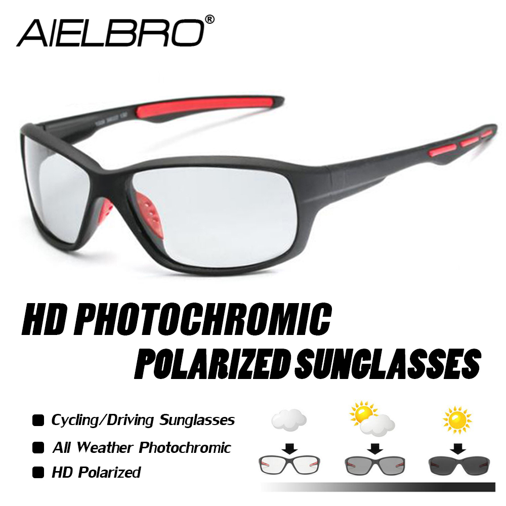 Sport Photochromic Polarized Glasses Fishing Eyewear Bicycle Glass MTB Bike Riding Fishing Hiking Sunglasses 2019