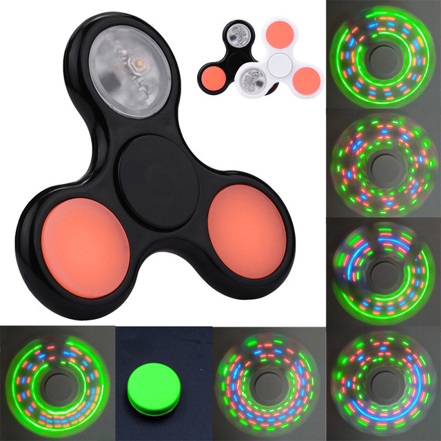 fidget spinner ABS Hand Spinner Fidget spinner light led gyro Noctilucous Hand Spinner Fidget Triangle EDC Focus ADHD Autism Toy