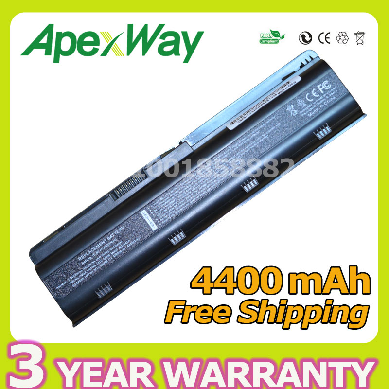 Apexway 4400 mah 6 cellulaire batterie pour HP DM4 MU06 MU09 CQ32 CQ42 G42 G72 G62 pour Pavilion g6s g6t g6x pour Presario CQ43 CQ56 CQ62