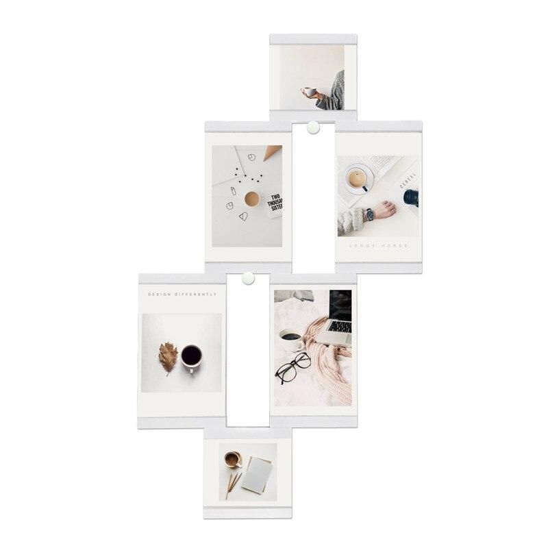 Múltiples marcos marco blanco marcos decoración transparente ...