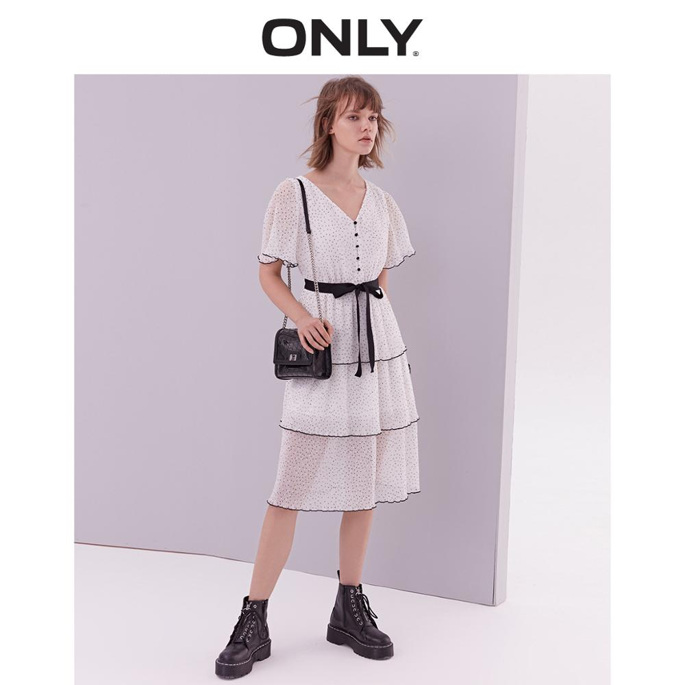 Solo 2019 verano Bowknot vestido de gasa  119107702-in Vestidos from Ropa de mujer    1