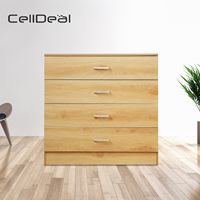 Chest of Drawers 4 Drawer Metal Handles Runners Bedroom Furniture Home Furniture Living Room Wooden Drawers